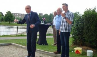 Du Chatinier opent jeu de boulesbaan in Europapark