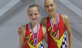 Alphense meiden pakken brons op NK synchroonzwemmen