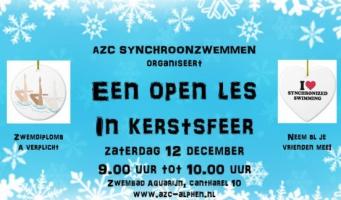 AZC Synchroonzwemmen verzorgt open les