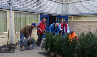Mooi resultaat beplanting door vrijwilligers