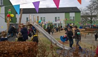 Vernieuwde speelplek Groene Dorp geopend