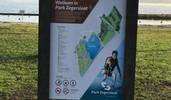Plattegronden in Park Zegersloot