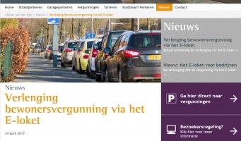 Website van ParkeerService