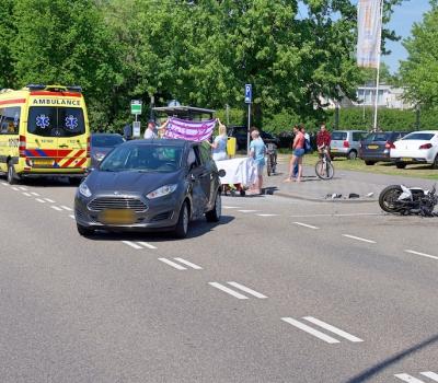 Motorrijder zwaar gewond na ongeval op de Van Foreestlaan