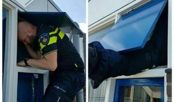 Agenten bevrijden buitengesloten vrouw van balkon