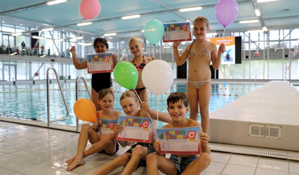 De Thermen2 feliciteert alle afzwemmers in september