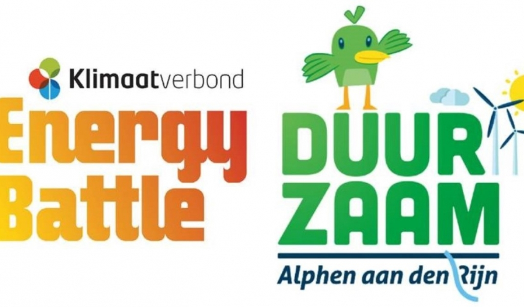 Logo's Energy battle en Duurzaam Alphen
