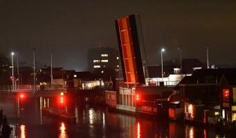 Nachtelijke storing Koningin Julianabrug