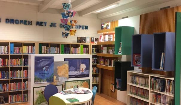 Nieuwe bibliotheek voor basisschool het Spinnewiel