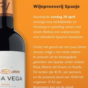 Wijnproeverij Spanje