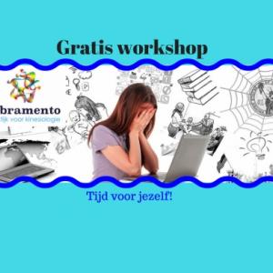 Gratis workshop 'Tijd voor jezelf!'