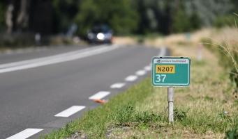Werk aan N207 tussen Alphen en Leimuiden afgerond