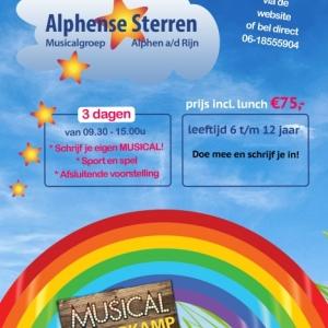 3 ochtenden/middagen Musical Zomerkamp Alphense Sterren