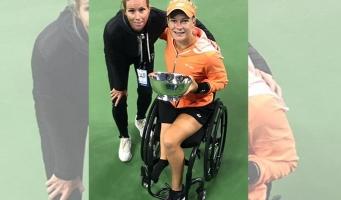 Rolstoeltennisster Diede de Groot wint bij US Open