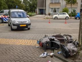 Scooterrijder gewond na aanrijding Oude Herenweg