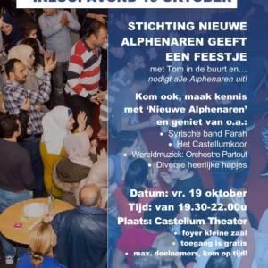Inloopavond Stichting Nieuwe Alphenaren