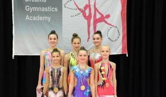 Succesvolle seizoenstart ritmische gymnastes Wilskracht