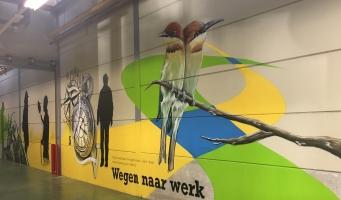 Graffitikunstenaar bij Rijnvicus