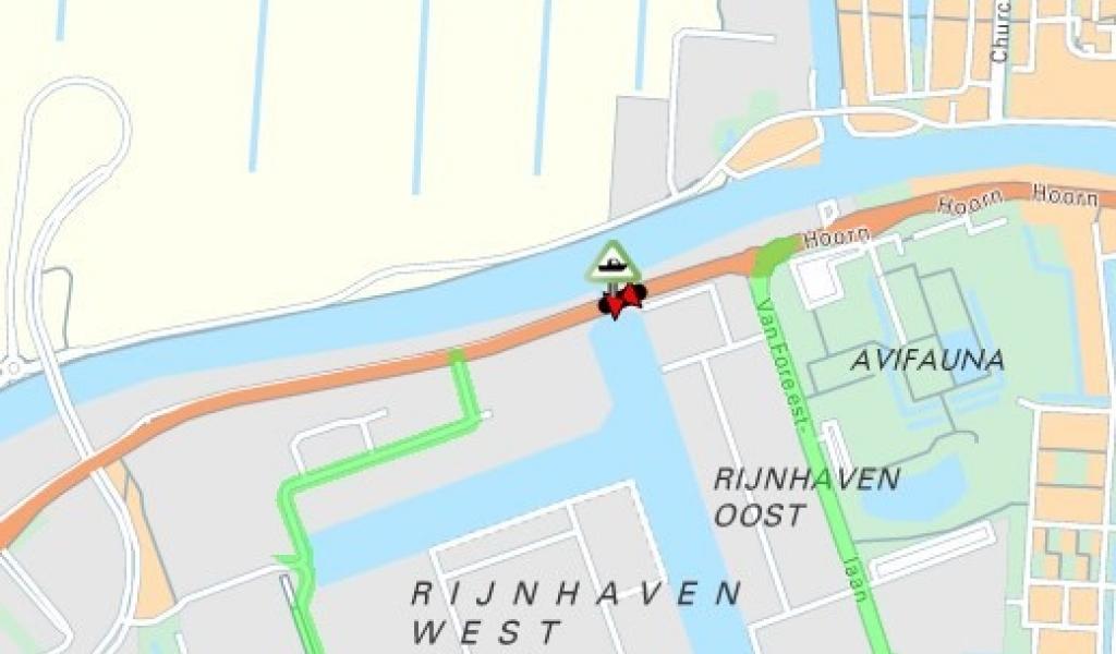 Rijnhavenbrug aan de Hoorn in Alphen aan den Rijn