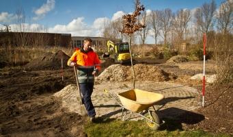 Leerlingen Ridderspoor beplanten Rijnvicusgaard