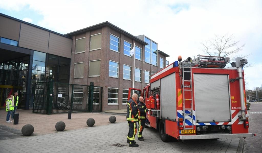 Brand van maandag op MBO Rijnland aangestoken