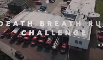 Brandweer Alphen slaagt voor challenge 'The Death Breath Run'