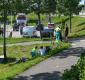 Botsing tussen brommer en fietser bij De Schans