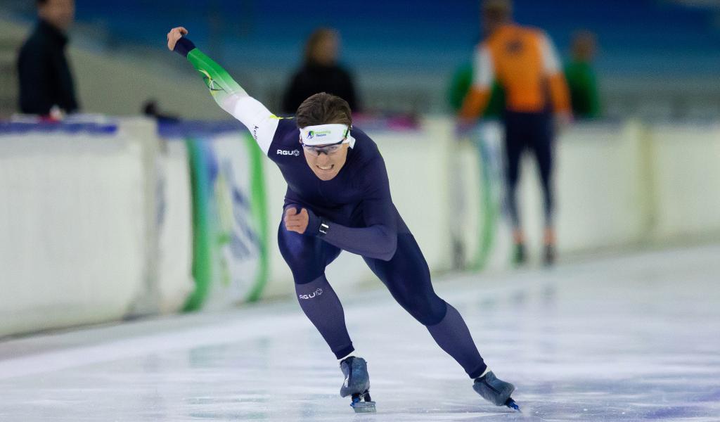 Daan Spruit start schaatsseizoen ijzersterk