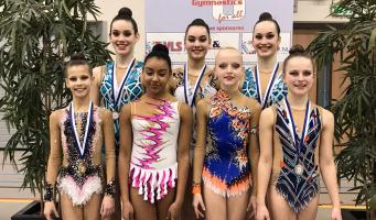 Districtskampioenen Ritmische Gymnastiek Wilskracht