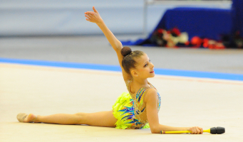 Alphense ritmische gymnaste op internationale Gracia Fair Cup