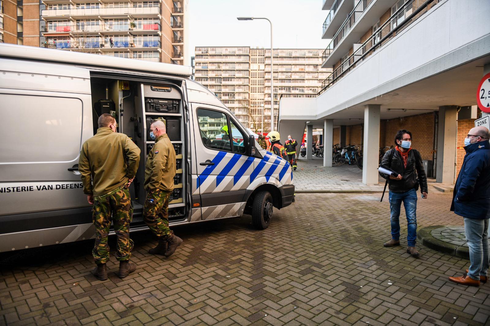 Vuurwerkbom ontploft Ridderhof